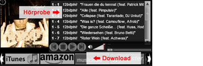 Eplanation of Musicplayer and MP3 Download